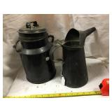 4 Quart Cream Can And Oil Can