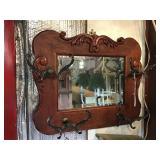 Coat Hanger Mirror With Beveled Edge, 21 1/2 X 17