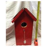 Birdhouse With License Plate Roof