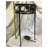 Metal Plant Stand With Bird Nest