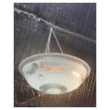 Clear Glass Light Fixture, 14 1/2 X 5