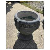 Cement Urn, 14 X 13, Some Chips