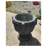 Cement Urn 14 X 13, Some Chips