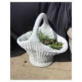 Cement Basket Planter, 27 X 21 X 28, Some Chips