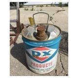 Dx Products Oil Company 5 Gallon Can, Rusted