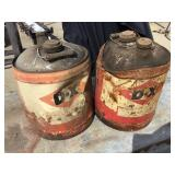 Dx Products 5 Gallon Cans, Rusted
