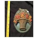 Cast Iron Flower Basket Door Knocker