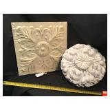 Plaster And Metal Decor Pieces