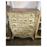 Chest Of Drawers, Carved, 46 X 37 X 22