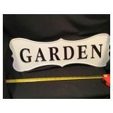 Tin Garden Sign 24 X 8 1/2