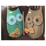 Two Wooden Owls