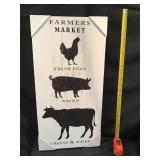 Farmers Market Wooden Sign 12 X 24