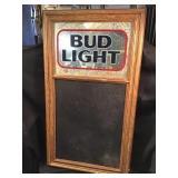Bud Light Mirror Chalkboard Framed Advertising 17