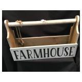 Farmhouse Wooden Tote, 22 X 14