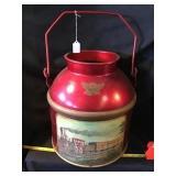 Painted milk pail