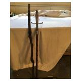 walking stick and Spear