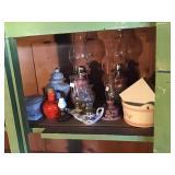 Oil lamps, mini oil lamps, porcelain Decor items