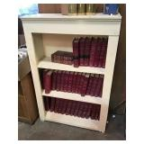 Painted wooden bookcase, no contents, 33 1/2 x 51