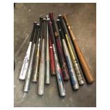 Assortment of baseball bats