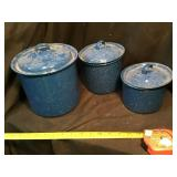 Enamelware canisters