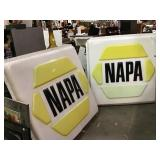 NAPA plastic advertising sign, Some cracks and