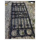 Wrought iron gate,  104 x 38