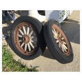 Two Tires Wooden Spoke 5.25 X 21
