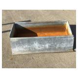 Galvanized water trough 25 x 18