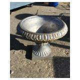 Cast iron urn, Painted, 13 x 11 1/2
