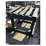 Wooden Cart on casters, 27 x 24 x 27 1/2