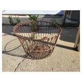 Egg basket, rusted