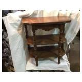 Three shelf wooden stand 22 x 11 x 22