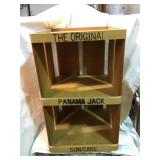 Panama jack sun care wooden display 22 x 13 1/2 x