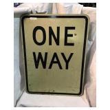 One way aluminum sign, 24 x 18