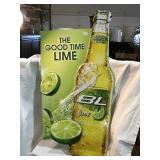 Bud light lime tin sign 19 1/2 x 40