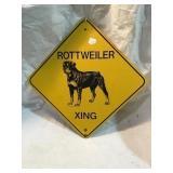 Rottweiler crossing aluminum sign 12 inch