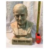 Old granddad head of the bourbon family statue,