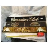 Canadian club, early times, Cutty Sark whiskey