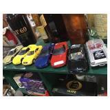 Seven sports cars