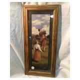 Golf picture, 10 x 22 1/2