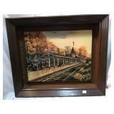 Blueridge train station picture, 19 x 16