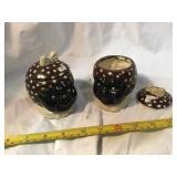 Black americana covered Ceramic dishes