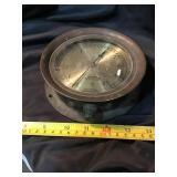 Brass bezel American bourdon gauge