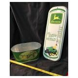 John Deere thermometer and tote