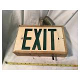 Lighted exit sign 12 x 8 x 3