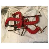 Four c clamps