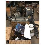 chimney cleaner, CB radio, miter box, motor,
