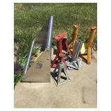 Stainless steel rack and jackstands