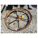 Steel mower wheel, 36 inch