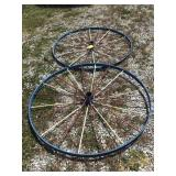 Two steel wheels 55 inch, Some spokes are loose